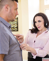 Brunette wife Chanel Preston cheats on her husband with the handyman