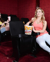 Hot pornstar Cherie Deville and Molly Jane full around in the XXX cinema