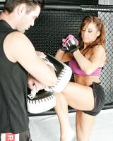 Female MMA enthusiast Devon Michaels fucks her male sparring partner