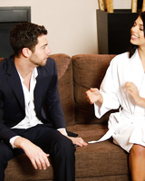 Brazilian masseuse Gina Valentina makes the acquaintance of Seth Gamble