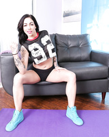 Tattooed brunette Harlow Harrison finishes a wicked fuck with jizz in mouth