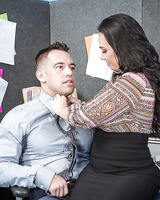 Office secretary Holly West dreams about hardcore face-fucking