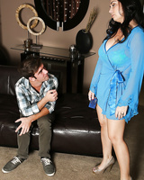 Charming Latina milf Holly West services her soaked cunt to a guy