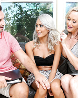 MILF Brandi Love lets her lover fuck petite gal with grey-hair Janice Griffith