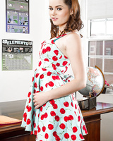 Coed slut Jenna J Ross flashing panties beneath dress in kitchen