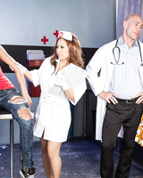Teen nympho Jessa Rhodes goes to the doctor for help but seduces him instead