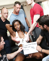 Black babe Jezabel Vessir has an interracial gangbang with group of white men