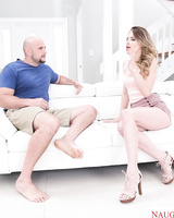Cheating wife Jillian Janson takes a large dick up her filthy asshole