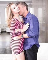 Hot blonde teen Jillian Janson is always ready to give her guy a blowjob