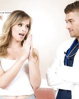Teen girl Jillian Janson ends up sucking off her doctor during gyno exam