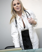 Blonde doctor Julia Ann seduces her hung black patient in his hospital room
