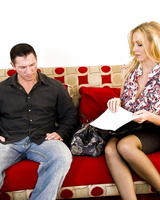 Blonde chick Julia Ann gets butt fucked in order to get divorce papers signed