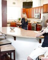 Busty blonde MILF Julia Ann getting drilled by big cock in kitchen