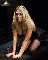 Blonde females Krissy Lynn & Angela Attison play lezdom games with strapons