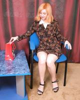 Petite hottie in red lingerie