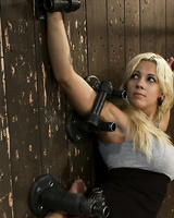 Tied up Lylith Lavey gets pleasured by her master in various BDSM ways