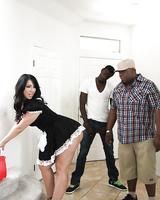Lustful maid Madison Rose is into interracial hardcore twatting