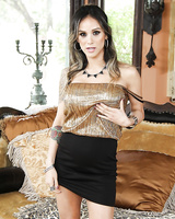 Sultry Latina MILF NAdia Styles posing fully clothed in high heels