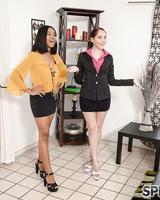 Sexy businesswomen Nickey Huntsman & Jenna Foxx in hot lesbian action