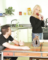 Milf pornstar Nikki Hunter is nicely fucked in the ass by a younger guy