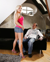 Gorgeous blonde Jenna Lovely has pussy covered in jizz after sex