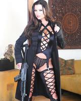 Hot MILF in stockings Nikita Denise revealing her gorgeous big tits