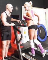 Gorgeous sporty MILF Nikita Von James fucks her coach after workout