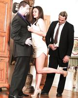 Foot fetish slut Olivia Wilder riding cock in reality cuckold fuck session
