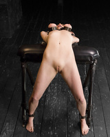 Kinky Mz Berlin uses a couple of her painful BDSM tools on Penny Pax