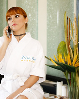 Handsome businessman comes for relaxing Nuru massage where meets Penny Pax
