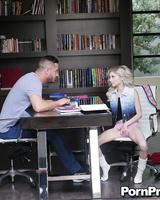 Bid-dicked tutor should be careful fucking so fragile babe as Piper Perri