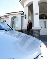 Big-boobied Puma Swede drives her cabriolet to catch some bad boys