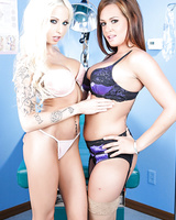 Babe Tory Lane and hot Rikki Six going naughty licking pussies in hospital
