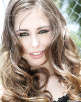 Petite white girl Riley Reid spits out jizz after interracial blowbang