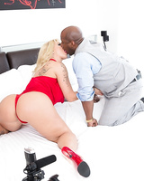 Big assed blonde chick Ryan Conner gets ass fucked by a black man