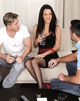 Horny MILF Samia Duarte says yes to a double penetration after some drinks