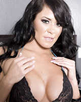 Hot Savannah Stern looses her big tits to spread pussy lips in black nylons