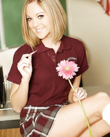 Teen with small tits Scarlett Fay gets naughty right at school