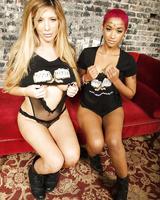 Skin Diamond & Tasha Reign put aside skin color differences during lesbian sex