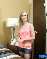 Young blonde girl Skylar Green does a large dick from a POV perspective