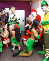 Hardcore Christmas Party with tones of cock-swallowing babes