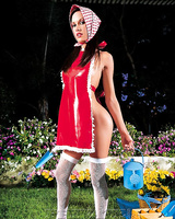 Bare assed Taylor Rain watering flowers gets deep anal from the gardener