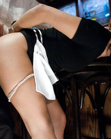 Cleaning lady Vicki Chase gets rammed hard in the bar by her boss