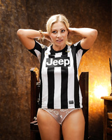 Blonde MILF Vittoria Risi sticks a toy in her ass after removing ref uniform