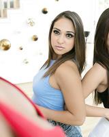 Slim teen Jenna Sativa is coerced into lesbian sex by stepmom Mercedes Carrera