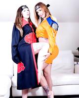 Incredible Yuffie Yulan and Elouise Please cosplay Naruto during lovemaking