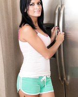 Amateur hottie Nadia Capri getting nailed doggystyle in the kitchen