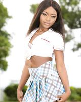 Super hot ebony Noemi Bilas gets a big white cock in her tight sexy booty