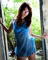 Having gone nude this sweet oriental bimbo Risa Misaki shows the tits and hairy nub