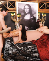 The furious fuck orgy with busty Brandy Aniston sucking dicks and getting licked